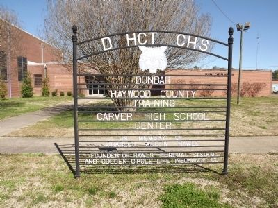 Dunbar School Sign image. Click for full size.