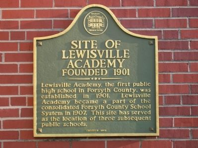 Site of Lewisville Academy Marker image. Click for full size.