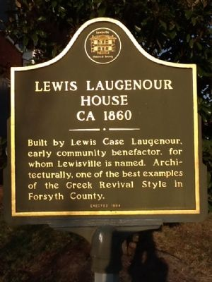 Lewis C. Laugenour House Marker image. Click for full size.