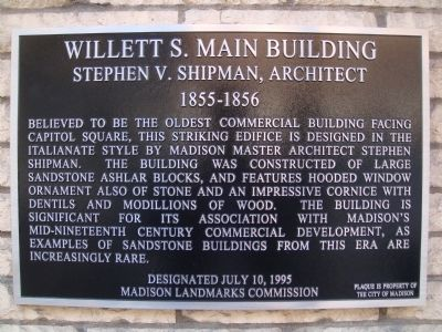 Willett S. Main Building Marker image. Click for full size.