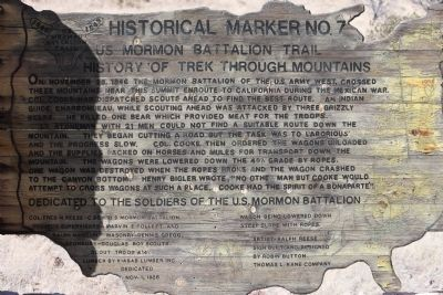 History of Trek Through Mountains Marker image. Click for full size.
