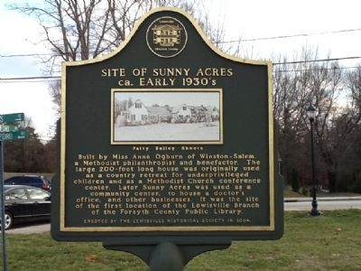 Site of Sunny Acres Marker image. Click for full size.