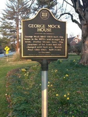 George Mock House Marker image. Click for full size.