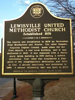 Lewisville United Methodist Church Marker image. Click for full size.