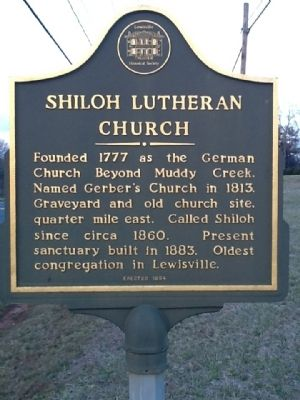 Shiloh Lutheran Church Marker image. Click for full size.
