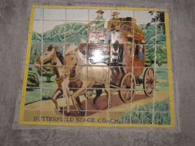 Tiles of the Butterfield Stage Coach 1850-1890's image. Click for full size.