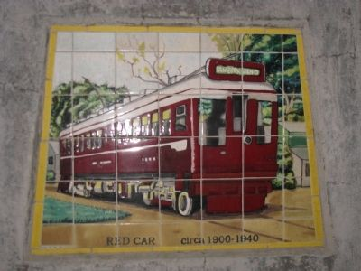 Tiles of the Red Car circa 1900-1940. image. Click for full size.