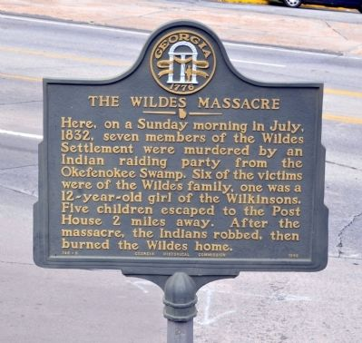 The Wildes Massacre Marker image. Click for full size.