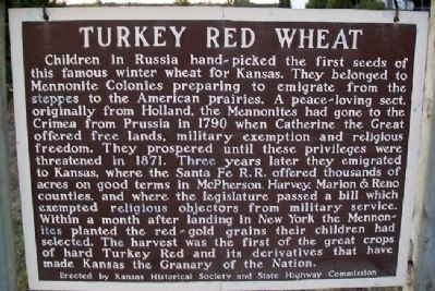 Turkey Red Wheat Marker image. Click for full size.
