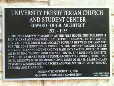 University Presbyterian Church and Student Center Marker image. Click for full size.