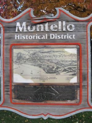"Montello ""Mont L'eau"" - Hill by the River Marker image. Click for full size."