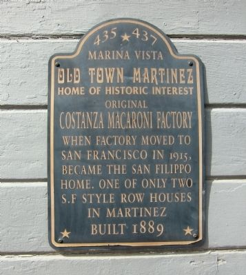 Original Costanza Macaroni Factory Marker image. Click for full size.