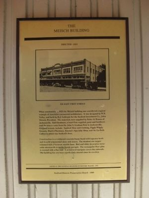 The Meisch Building Marker image. Click for full size.