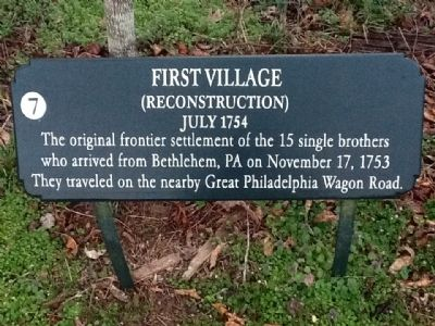 First Village Marker image. Click for full size.