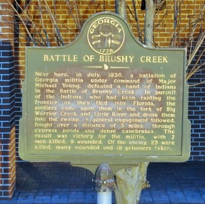 Battle of Brushy Creek Marker image. Click for full size.