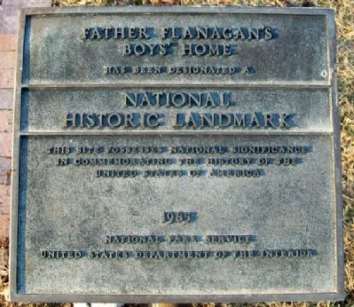 Father Flanagan's Boys' Home NHL Marker image. Click for full size.