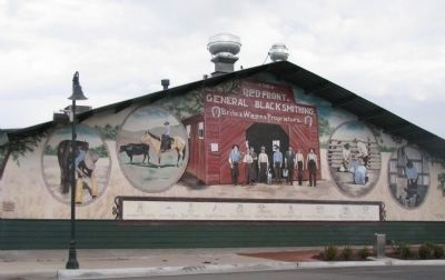 Red Front Blacksmith Shop Mural image. Click for full size.