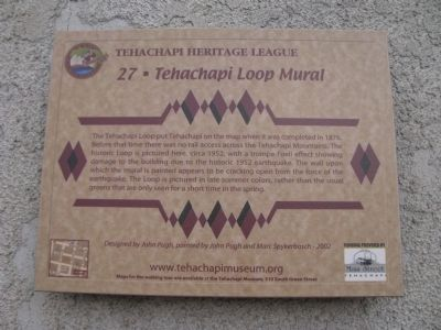 Tehachapi Loop Mural Marker image. Click for full size.