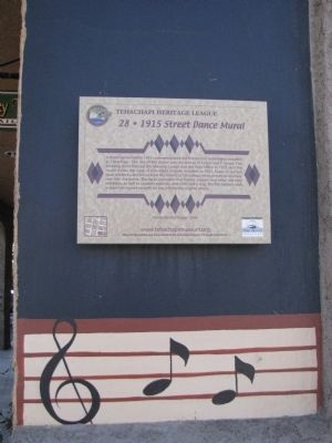 1915 Street Dance Mural Marker image. Click for full size.