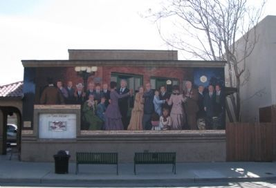1915 Street Dance Mural and Marker image. Click for full size.