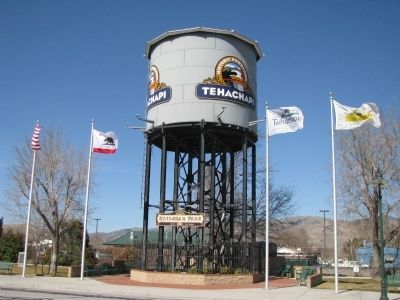 Tehachapi Water Tower & Railroad Park image. Click for full size.