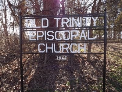 OldTrinity Episcopal Church Sign image. Click for full size.