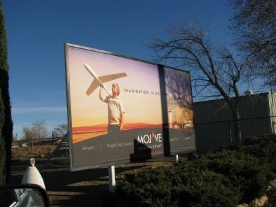 Mojave Air & Spaceport Sign image. Click for full size.