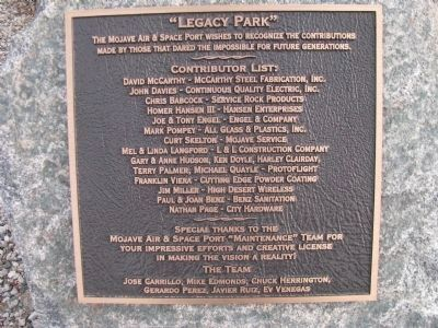 Legacy Park Plaque image. Click for full size.