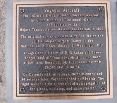 Voyager Aircraft - Left Marker image. Click for full size.