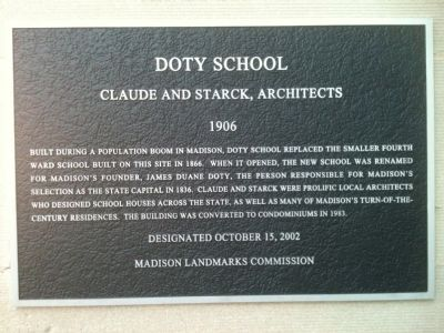 Doty School Marker image. Click for full size.