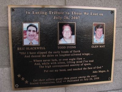 In Loving Tribute to Those We Lost on July 26, 2007 image. Click for full size.