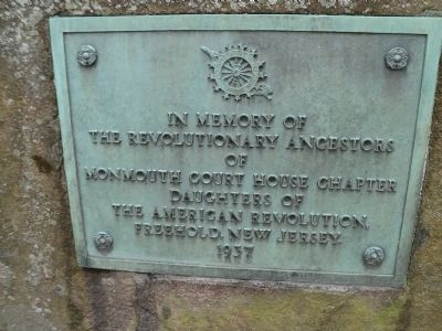Revolutionary Ancestors of Monmouth Court House Marker image. Click for full size.