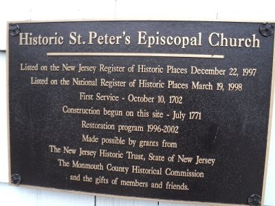 Historic St. Peter's Episcopal Church Marker image. Click for full size.