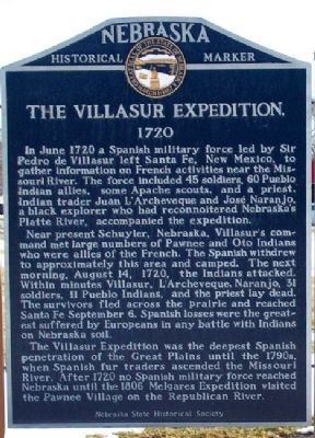 The Villasur Expedition Marker image. Click for full size.