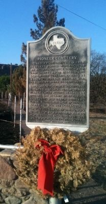 Pioneer Cemetery Historical Marker image. Click for full size.