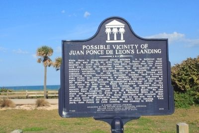 Possible Vicinity of Juan Ponce de Leon's Landing Marker image. Click for full size.