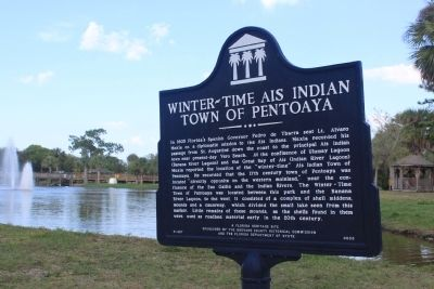 Winter-Time Ais Indian Town of Pentoaya Marker image. Click for full size.