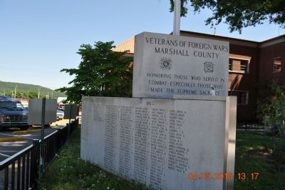 Veterans of Foreign Wars Marshall County Marker image. Click for full size.