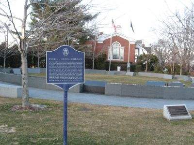 Meeting House Corner Marker image. Click for full size.