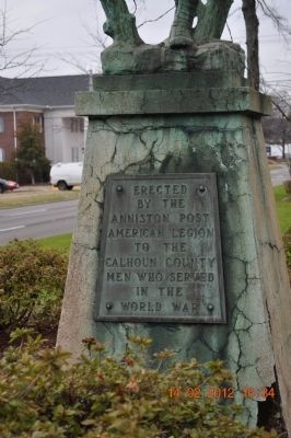 Anniston World War Marker image. Click for full size.