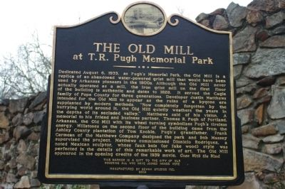 The Old Mill at T. R. Pugh Memorial Park Marker image. Click for full size.