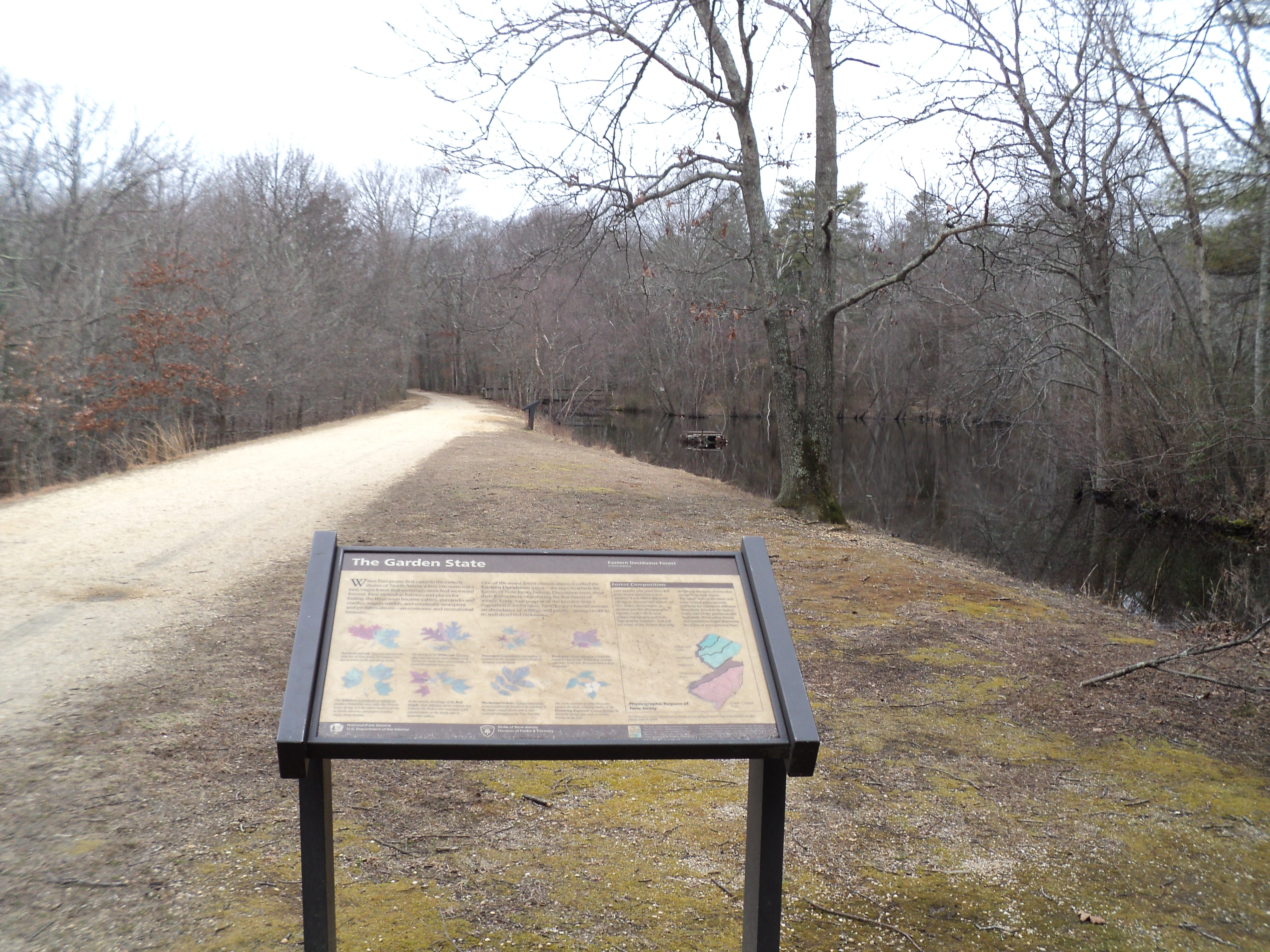 Marker in Allaire State Park