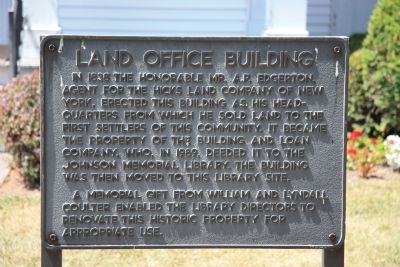 Land Office Building Marker image. Click for full size.
