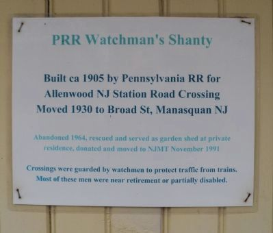 PRR Watchman's Shanty Marker image. Click for full size.