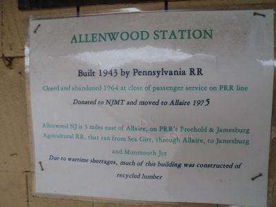 Allentown Station Marker image. Click for full size.