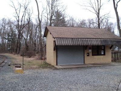 Allentown Station in Allaire State Park image. Click for full size.