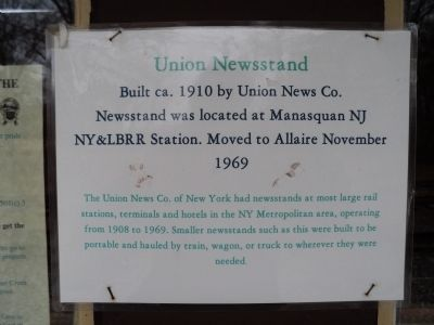 Union Newsstand Marker image. Click for full size.