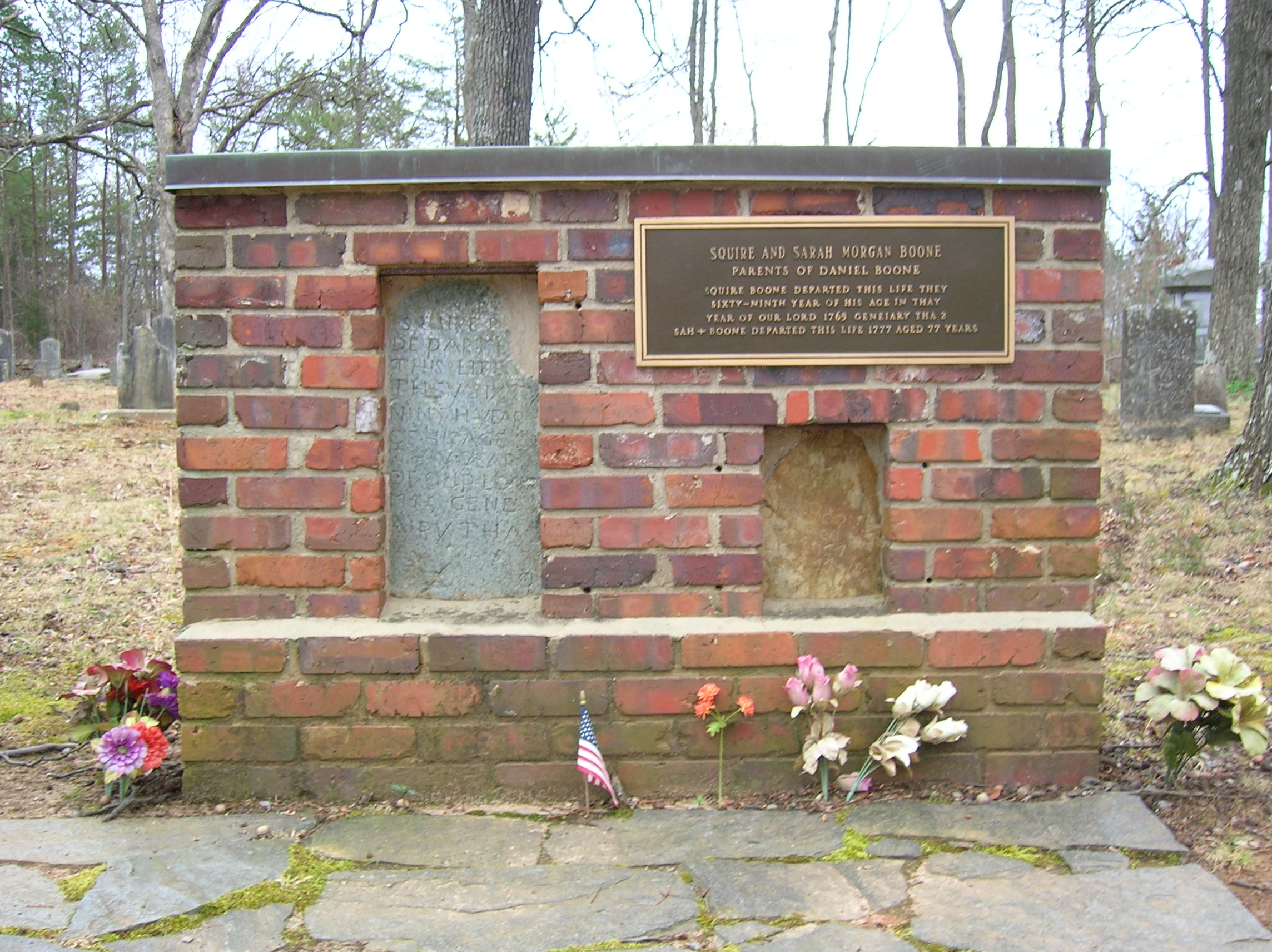 Graves of Squire and Sarah Boone