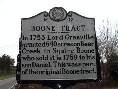 Boone Tract Marker image. Click for full size.
