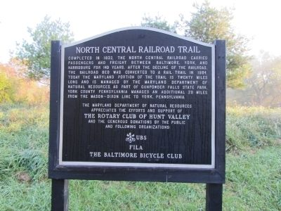 North Central Railroad Trail Marker image. Click for full size.